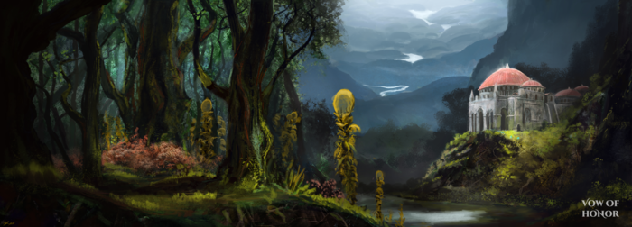 Order of Fasann Enclave in the Shenlin Forest, by Stephen Rusk